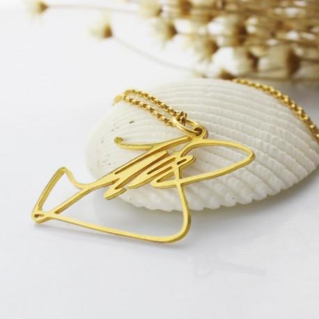 Custom Signature Name Necklace