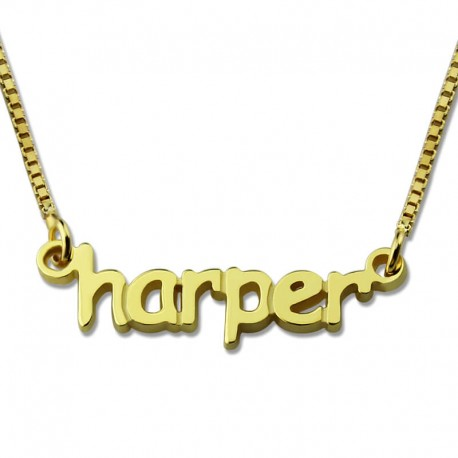 Tiny Nameplate Necklace