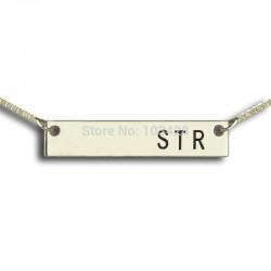 Initials Bar Necklace