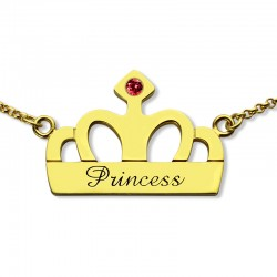 Handstamped Princess Name Necklace