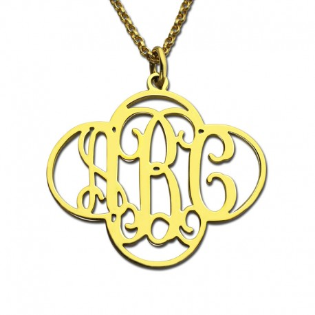 Monogram Clover Necklace