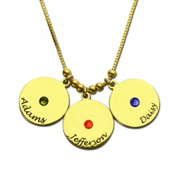 Mother's Name Disc Necklace