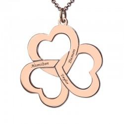 Triple Heart Shamrocks Necklace
