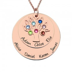 Tree Birthstone Mother Necklace