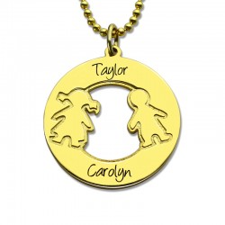 Engraved Children Names Necklace