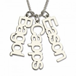 Multiple Vertical Name Necklace