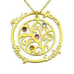 Family tree necklace with birthstone personalized name necklaces family tree necklace with birthstone aloadofball Gallery