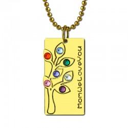 Birthstones Family Tree Necklace