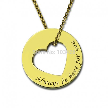 Cut Out Heart Name Necklace
