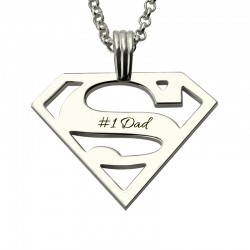 Superman Logo Necklace for Dad