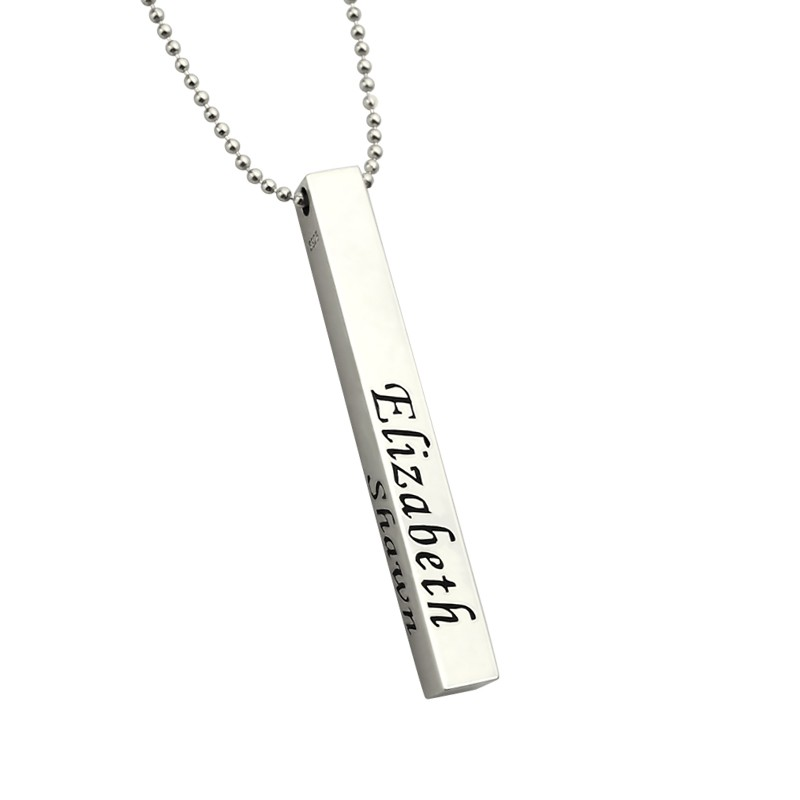 Personalized mens 4 sided bar necklace personalizedperfectly personalized mens 4 sided bar necklace aloadofball Gallery
