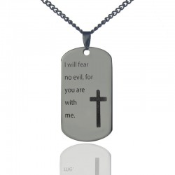 'You Are With Me' Cross Pendant