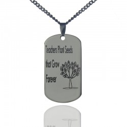 'Teachers Plant Seeds That Grow Forever'Tree Necklace