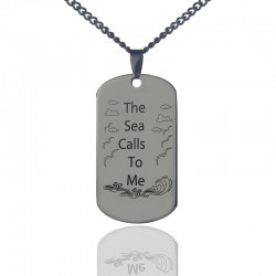 'The Sea Calls To Me' Ocean Necklace