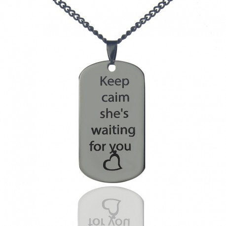 Steel Couples Necklace