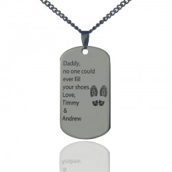 No One Could Fill Father's Shoes Necklace