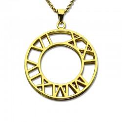 Double Roman Numeral Pendant Necklace
