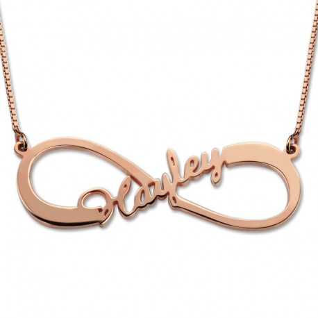 Infinity Single Name Necklace