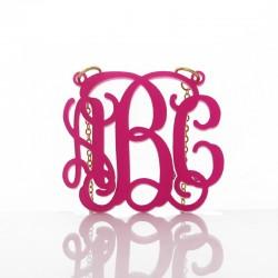 Monogram Acrylic Necklace