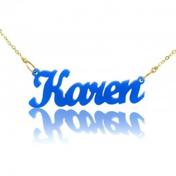 Karen Style Name Necklace in Acrylic