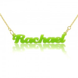 CreamPuff Name Necklace in Acrylic