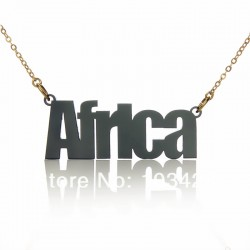 Africa Acrylic Necklace