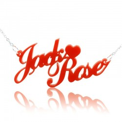 Carrie Style with Heart in Acrylic Necklace