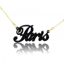 Acrylic Paris Necklace