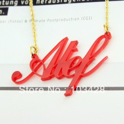Acrylic Carrie Fonts Initials Necklace
