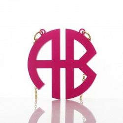 Acrylic Circle Block Monogram Necklace
