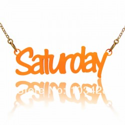 Stroke Font Acrylic Necklace