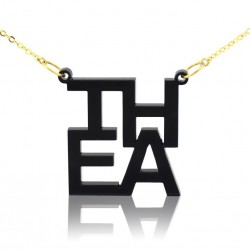 Four Letters Lindsay Style Necklace  in Acrylic