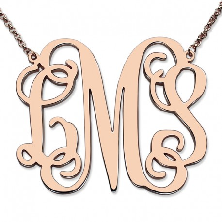XL Monogram Necklace 1.7 Inch Necklace