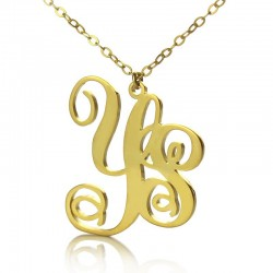 2 Letters Monogram Necklace