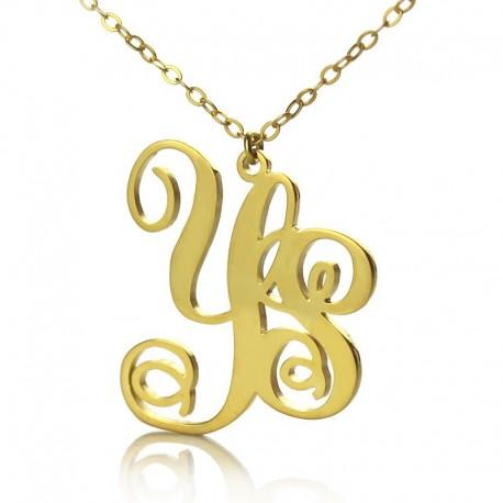 2 Letters Monogram Necklace