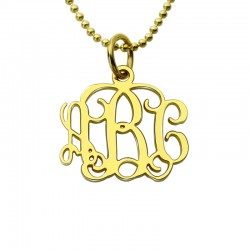 Small 0.72 inch Monogram Necklace