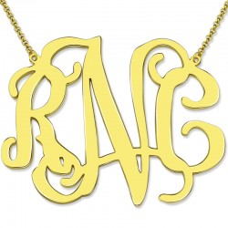 XXL 2 Inch Celebrity Monogram Necklace