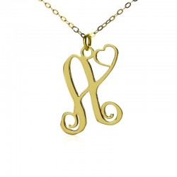 """A Piece of My Heart""Initial Necklace"