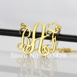3 Initials Monogram Name Necklace