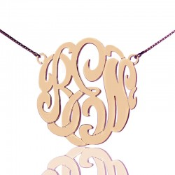 Monogrammed Necklace 3 Initials