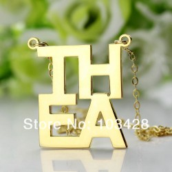 4 Letters Couples Necklace