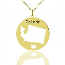 I heart Washington Necklace