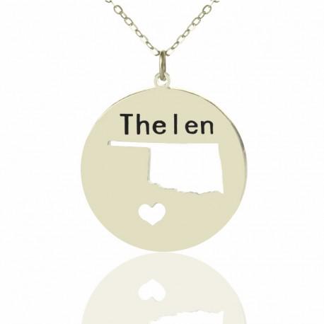 I Heart Oklahoma Necklace