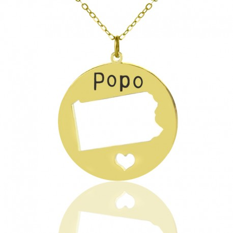 I Heart Pennsylvania Necklace