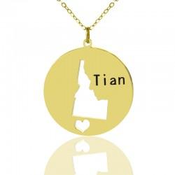 I Heart Idaho Necklace