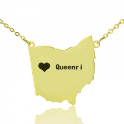 State Of Ohio Necklace