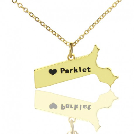 Massachusetts State Necklace