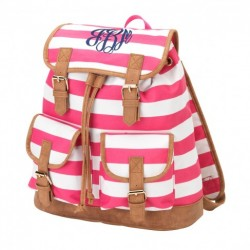Stripe Campus Backpack (Greek)