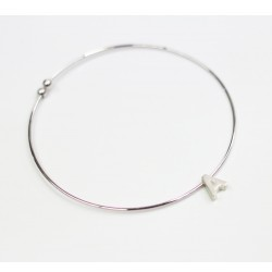 Plated copper initial bangle