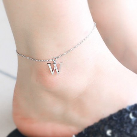 Initial Charm Anklet